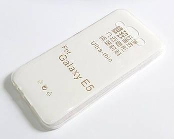 Чехол для Samsung Galaxy E5 Duos E500H силиконовый ультратонкий прозрачный