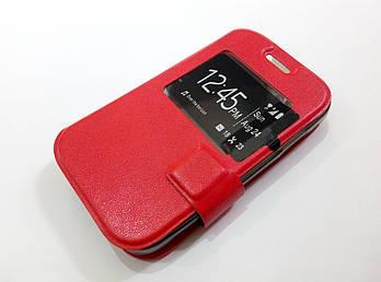 Чехол книжка с окошком momax для Samsung Galaxy Star 2 G130E / Young 2 G130H красный
