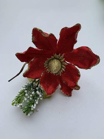 Пуансеттия для декора ( красная), фото 2