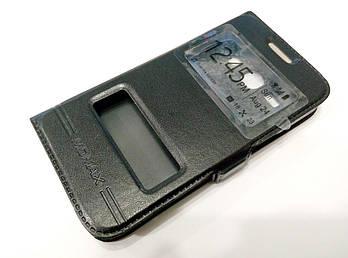 Чехол книжка с окошками momax для Samsung Galaxy Star Advance G350e черный