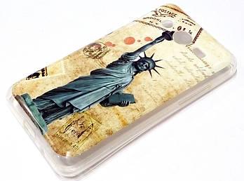 Чехол силиконовый с рисунком статуя свободы для Samsung Galaxy Core 2 G355
