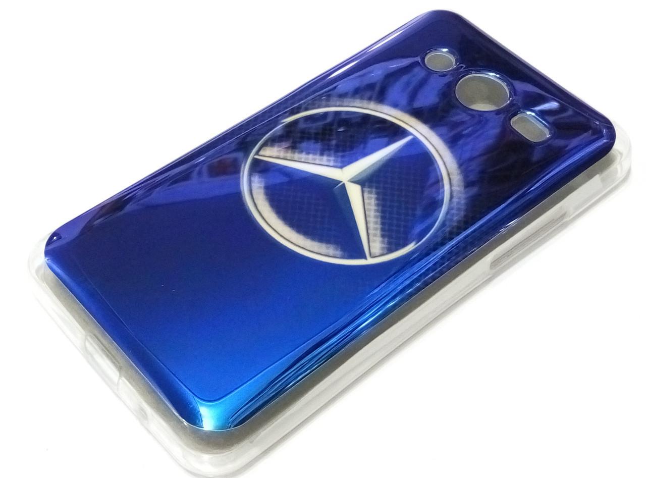 Чехол силиконовый с рисунком mercedes для Samsung Galaxy Core 2 G355