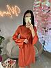 Вечернее шелковое платье с расклешенными рукавами