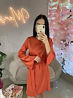 Вечернее шелковое платье с расклешенными рукавами, фото 1