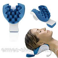 Релаксатор для шеи и плеч | Массажная подушка для облегчения боли в шее | Подушка для шеи Pillow Blue, фото 3