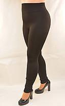 Лосины женские на меху бесшовные с широким поясом и в больших размерах XL - 6XL Лосины зимние Ласточка - батал, фото 2