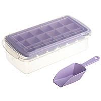 Форма для льда с контейнером и лопаткой STENSON 26 х 13см (82592)