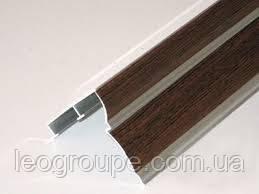 Карниз для штор  орех двухрядный алюминий -1.5м