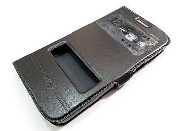 Чехол книжка с окошками momax для Samsung Galaxy Grand 2 G7102 / G7106 черный