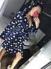 Красивый женский плюшевый халат с капюшоном