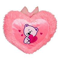 Игрушка-подушка Kronos Toys Сердце с мишкой (zol_479)