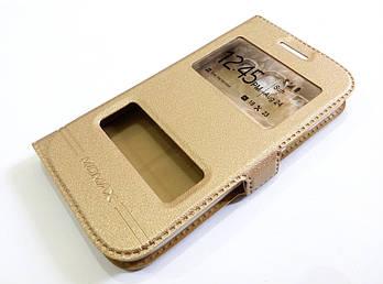 Чехол книжка с окошками momax для Samsung Galaxy Win i8550 / i8552 золотой