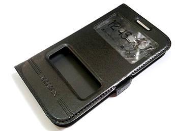 Чехол книжка с окошками momax для Samsung Galaxy Win i8550 / i8552 черный