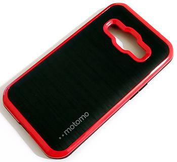 Чехол противоударный Motomo для Samsung Galaxy J1 Ace j110 Черно-красный