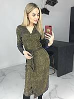 Женское новогоднее нарядное платье с люрекса