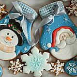 Трафарет + формочка для пряников Варежка-снеговик, фото 2