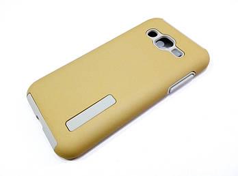 Чехол противоударный Dual Pro для Samsung Galaxy J2 J200 (2015) поликарбонат золотой