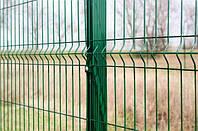 Забор 3Д сетка Секционный сварной в полимерном покрытии из металла в Днепре 3/4мм 2.5 х 1,23м.