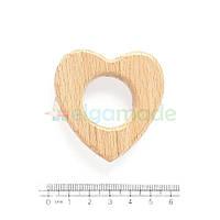 Грызунок-основа из дерева СЕРДЦЕ, 5.2х5.2 см
