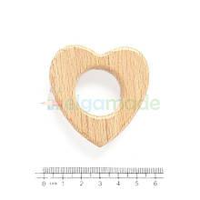 Гризунок-основа з дерева СЕРЦЕ, 5.2х5.2 см