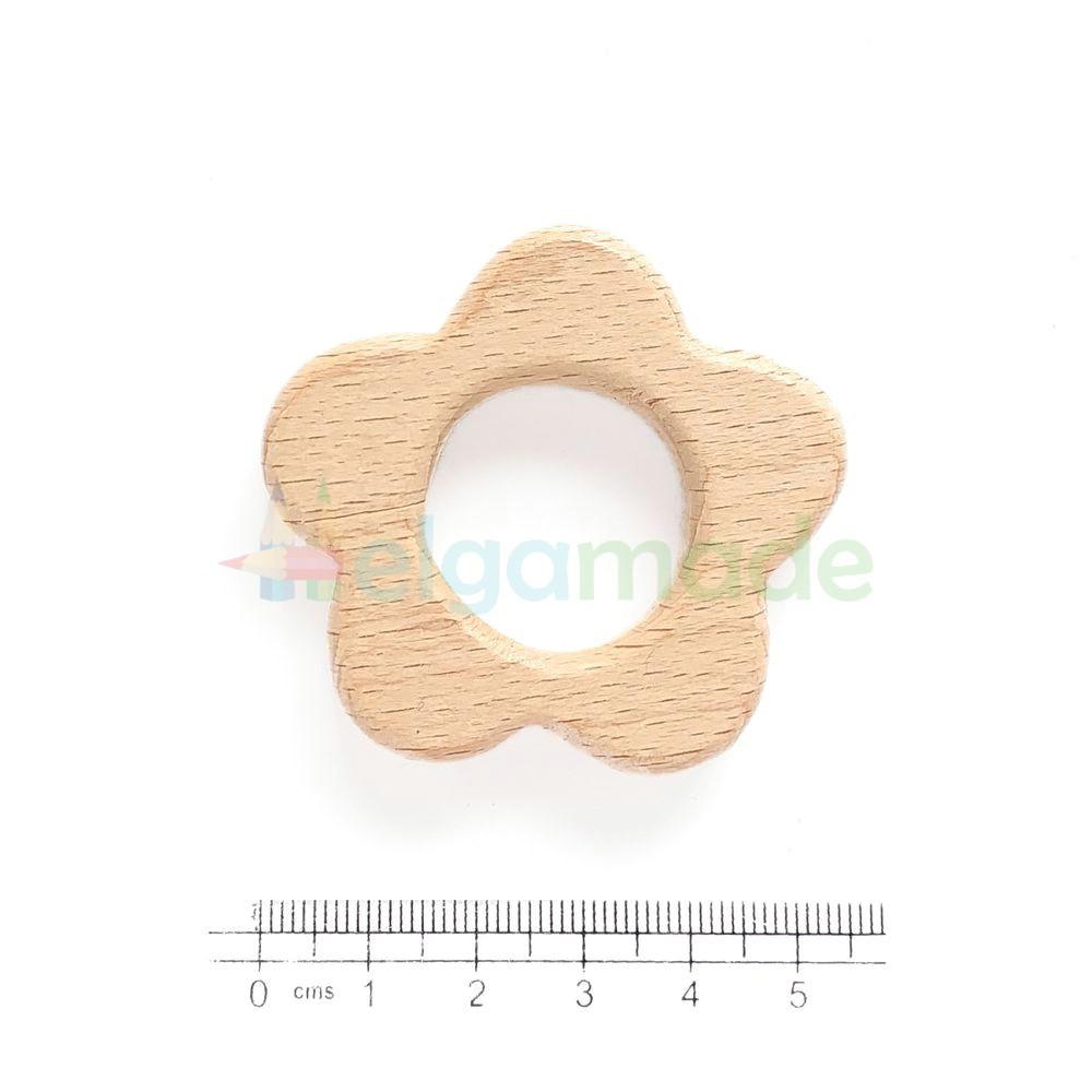 Гризунок-основа з дерева КВІТКА, 5х5 см