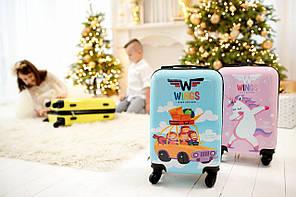 Детский чемодан на колесиках WINGS JAY Размер XS
