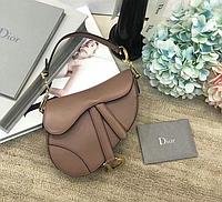 Женская сумка в стиле Диор коричневая