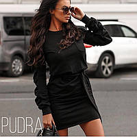 Женское платье трикотаж хаки черное 42-44 44-46, фото 1