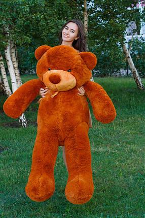 Мягкая игрушка медведь Тедди 180 см Коричневый (196-19112829), фото 2