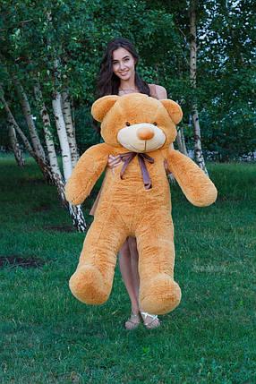 Мягкая игрушка медведь Тедди 140 см Карамельный (196-19112827), фото 2