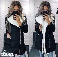 Женская модная куртка на меху и с пропиткой антиснег