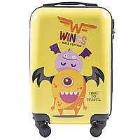 Детский чемодан на колесиках WINGS JAY Размер XS Желтый