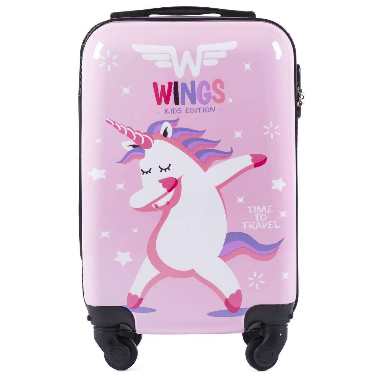 Детский чемодан на колесиках WINGS JAY Размер XS Unicorn