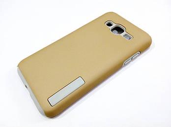 Чехол противоударный Dual Pro для Samsung Galaxy J3 J300 (2015) поликарбонат золотой