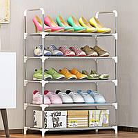 Полка для обуви 5 ярусов - стеллаж для обуви, фото 1