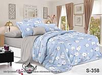 ✅ Двуспальный Евро комплект постельного белья (Люкс-сатин) TAG S358