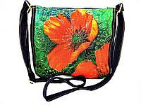 Женская сумочка Маки витраж, фото 1