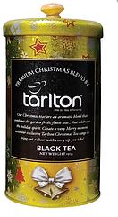Подарунковий чай Тарлтон Золотий чорний оксамит з цедрою апельсина 150 г в жерстяній банці