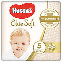 Подгузники Huggies Elite Soft 5 (12-22 кг) Mega Pack, 56 шт