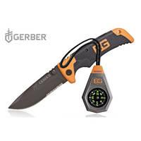 Набор скаута Gerber Bear Grylls нож с компасом, фото 1