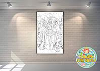 "Плакат - Раскраска 120х75  ""Барби Зимой"""