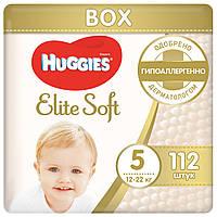 Подгузники Huggies Elite Soft 5 (12-22 кг) Box, 112 шт., фото 1