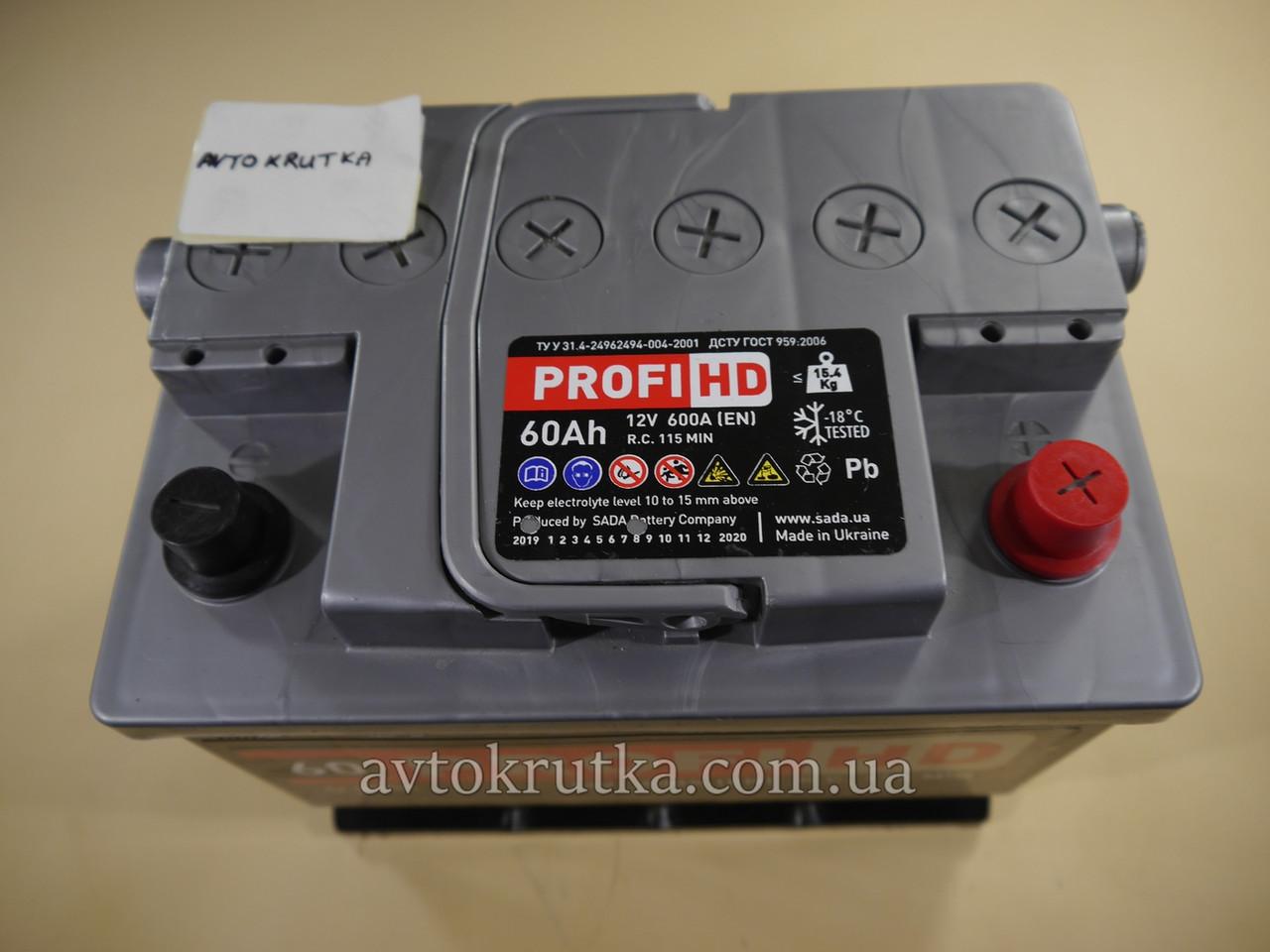 Аккумулятор SADA PROFI HD 6СТ-60