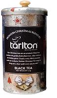Подарочный чай Тарлтон Серебряный бархат черный со вкусом фрукта Гуава и васильками 150 г в жестяной банке