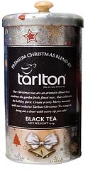 Подарунковий чай Тарлтон Срібний чорний оксамит зі смаком фрукта Гуава і волошками 150 г в жерстяній банці