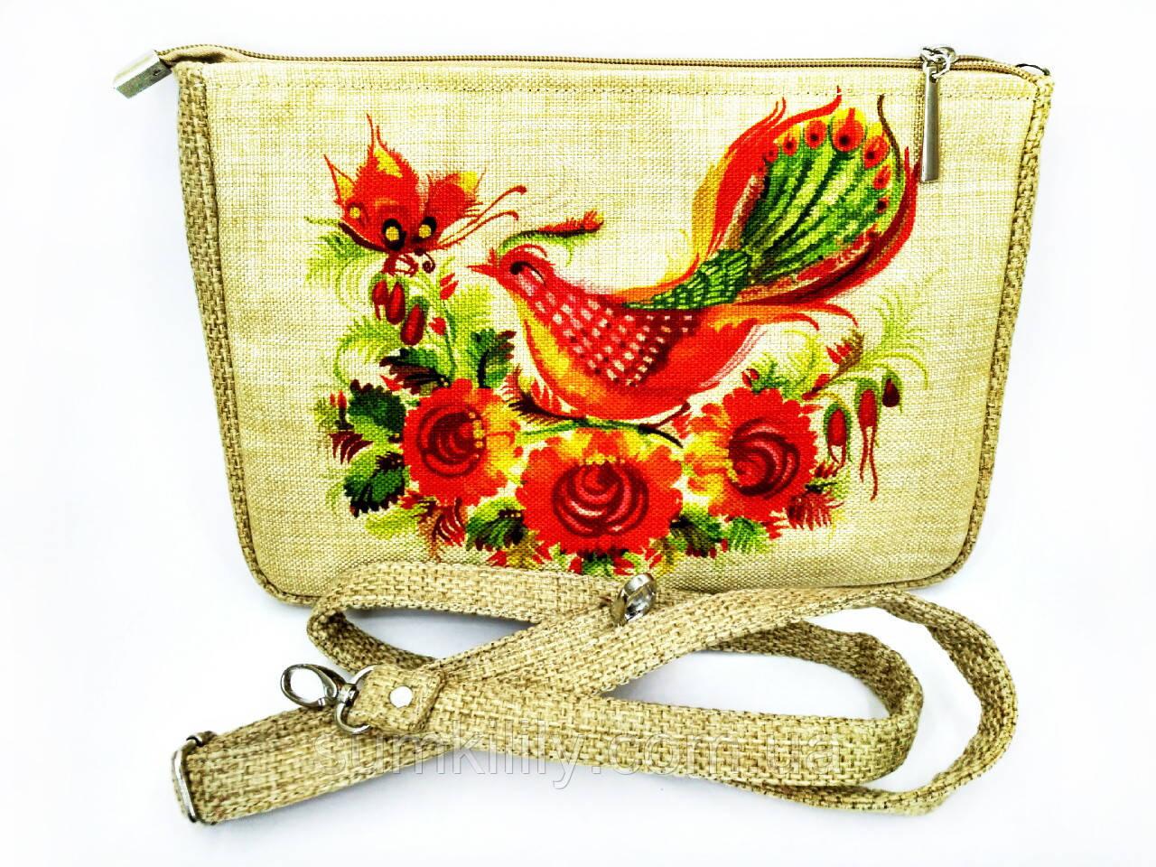 Маленькая сумочка СОРОКА И БАБОЧКА