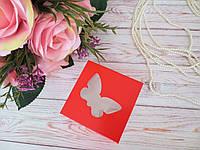 Коробка для изделий ручной работы с окном, 80х80х35 мм, цвет красный, 1 шт, фото 1