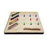 Деревянный математический планшет 20 х 20 см., фото 2