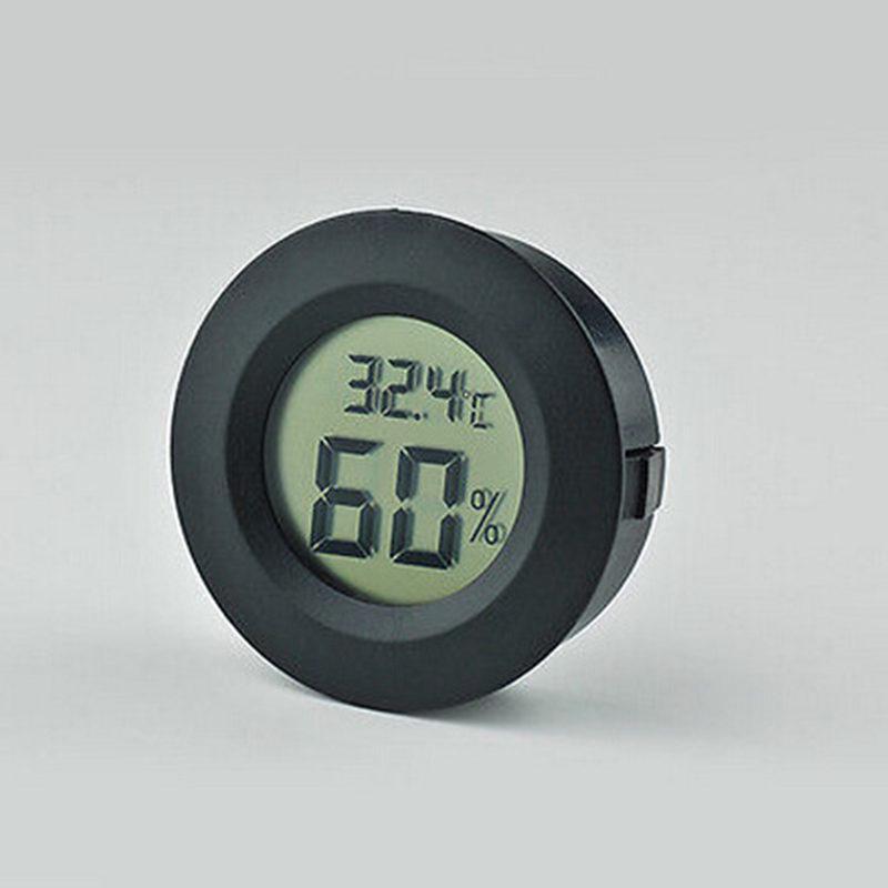 Термометр с гигрометром - ЖК дисплей - черный