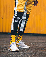 Спортивные штаны Triplekill черно-желтые